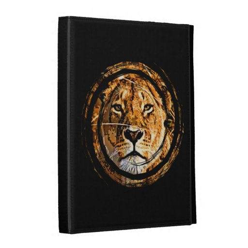 Caja del folio del iPad de la LEONA