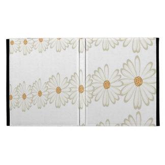 Caja del folio del iPad de la margarita