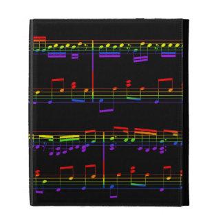 Caja del folio del iPad de la partitura del arco i