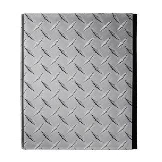 Caja del folio del iPad de la placa del diamante