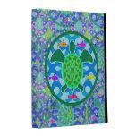 Caja del folio del iPad de la tortuga de mar verde