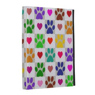 Caja del folio del iPad de las PATAS del AMOR