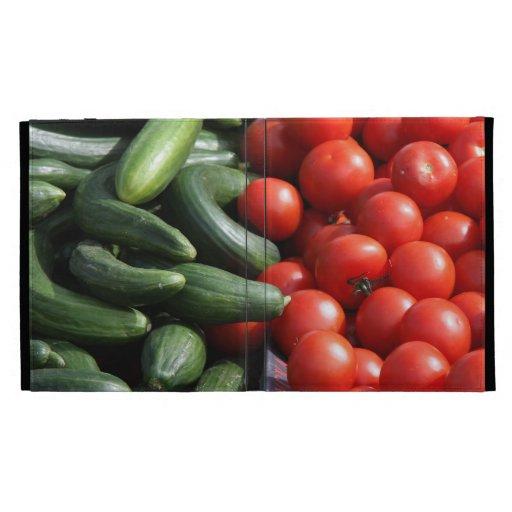 Caja del folio del iPad de las verduras