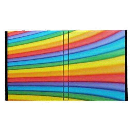 Caja del folio del iPad del arte del arco iris