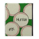 Caja del folio del iPad del béisbol