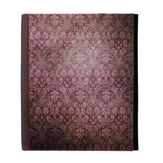 Caja del folio del iPad del damasco del vintage