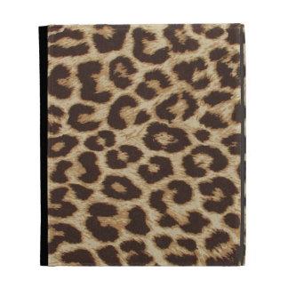 Caja del folio del iPad del estampado leopardo