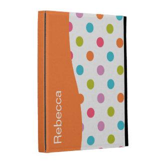 Caja del folio del iPad del monograma