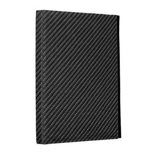caja del folio del iPad - fibra de carbono - negro