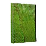 caja del folio del iPad - piel de la iguana