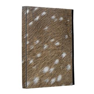 caja del folio del iPad - piel de los ciervos