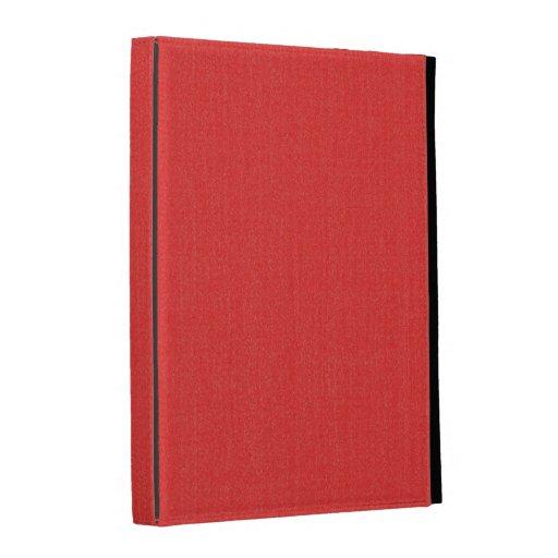 caja del folio del iPad - sólido texturizado - roj