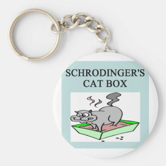 caja del gato de los schrodinger llavero redondo tipo pin