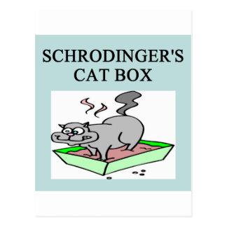 caja del gato de los schrodinger postales