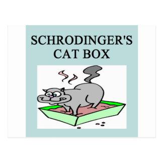 caja del gato de los schrodinger tarjetas postales