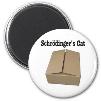 Caja del gato de Schrodinger Imán Redondo 5 Cm
