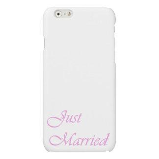 caja del iPhone 6 - apenas casada - rosas bebés