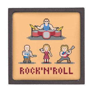 Caja del medio de la banda de rock-and-roll del cajas de recuerdo de calidad