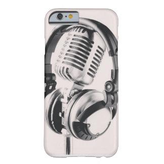 Caja del Mic y del auricular Funda De iPhone 6 Barely There
