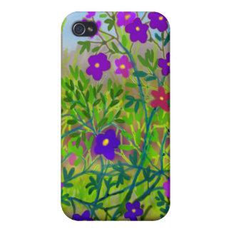 Caja del Mid West de la mota de los Wildflowers iPhone 4/4S Funda