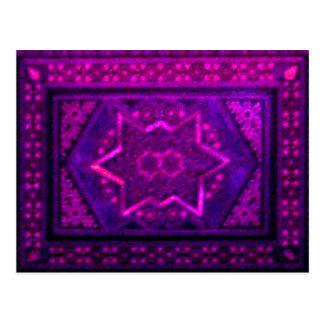 Caja del mosaico en púrpura tarjetas postales