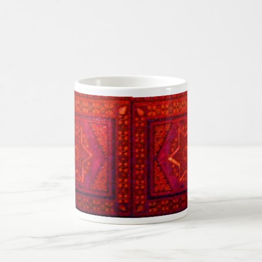 Caja del mosaico en rojo taza