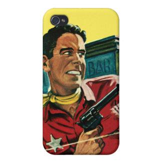 Caja del oeste de la mota del iPhone del sheriff iPhone 4/4S Fundas