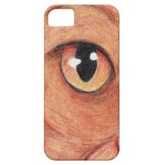 Caja del ojo de gato iPhone 5 funda