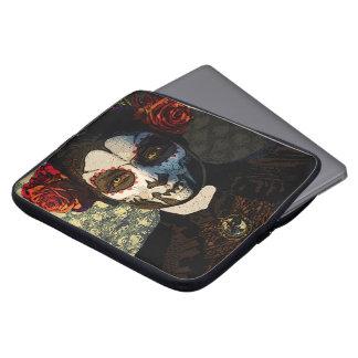 Caja del ordenador portátil de Dia Del Muerte Mangas Computadora