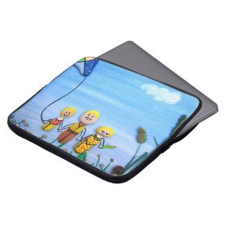 Caja del ordenador portátil de la familia del funda portátil