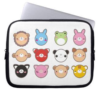 Caja del ordenador portátil de los animales de Kaw Mangas Portátiles