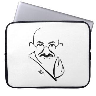 Caja del ordenador portátil de Mahatma Gandhi Mangas Computadora