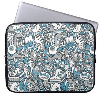 Caja del ordenador portátil del collage del Doodle Mangas Portátiles