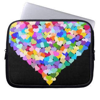 Caja del ordenador portátil del confeti de los cor mangas computadora