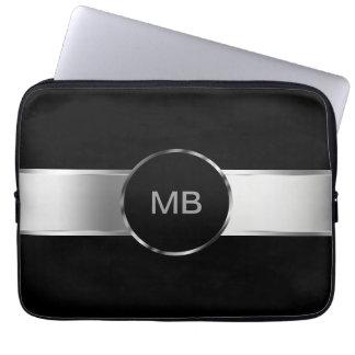 Caja del ordenador portátil del monograma de los funda ordendadores