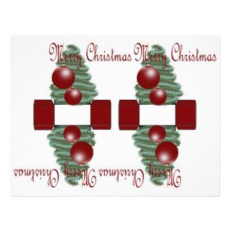 """Caja del ornamento 3D del navidad Folleto 8.5"""" X 11"""""""