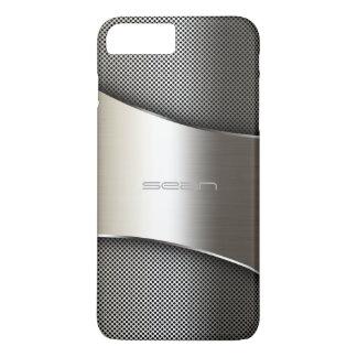 caja del oro con la placa y los tornillos funda iPhone 7 plus