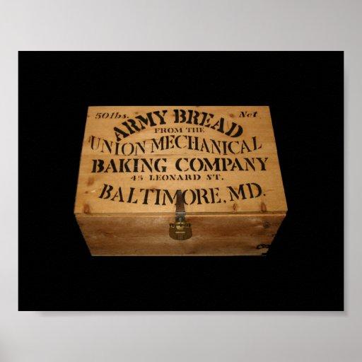 Caja del pan del ejército póster
