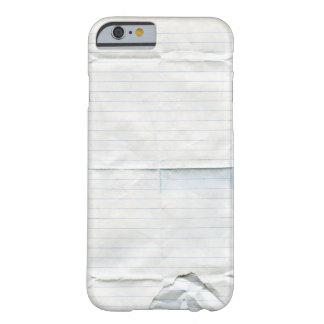Caja del papel del cuaderno funda de iPhone 6 barely there