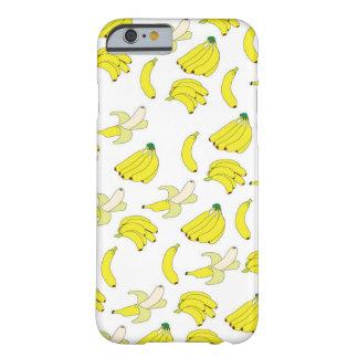 Caja del papel pintado del plátano funda de iPhone 6 barely there