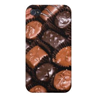 Caja del placer de los amantes del chocolate de iPhone 4 carcasas
