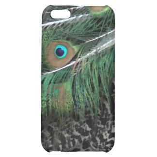 Caja del plumaje iPhone5 del pavo real