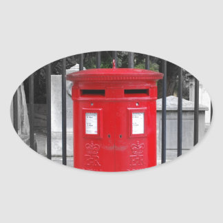 Caja del poste colcomanias oval personalizadas