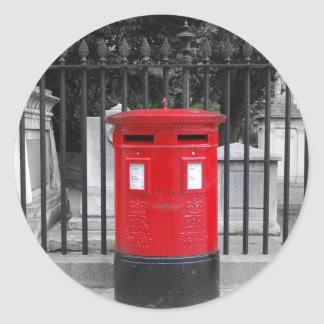 Caja del poste etiqueta redonda