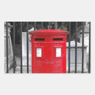 Caja del poste etiquetas
