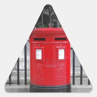 Caja del poste colcomanias triangulo personalizadas
