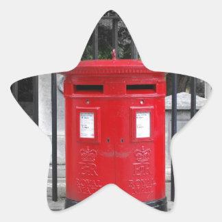 Caja del poste pegatina forma de estrella personalizada