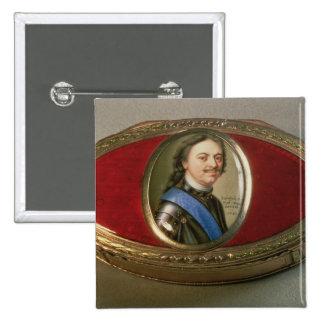 Caja del rape con la miniatura del retrato de Pete Pin Cuadrada 5 Cm