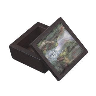 Caja del recuerdo de la cascada de la montaña cajas de recuerdo de calidad