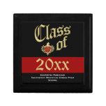 Caja del recuerdo de la graduación, rojo o color d caja de regalo